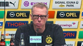 """Stöger nach BVB-Kantersieg: """"Mannschaft hat eine Reaktion gezeigt"""""""
