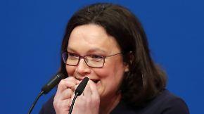 """""""Skeptiker überzeugen"""": Nahles glaubt an den Neuanfang mit der SPD"""