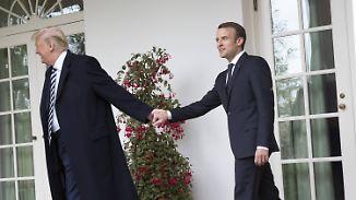 """Macron zu Besuch in Washington: """"Trump-Flüsterer"""" wickelt US-Präsidenten um den Finger"""
