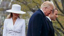 Grabbeln mit Donald Trump: Melania will nicht Händchenhalten