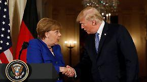 Gute Atmosphäre, hart in der Sache: Merkel kann Trump keine Zugeständnisse abringen