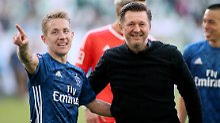 Das neue Dreamteam beim HSV: Lewis Holtby und sein Trainer Christian Titz.