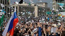 Sperrung von Messenger-Dienst: Russen protestieren gegen Internetzensur