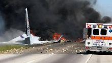 Mindestens zwei Tote in Georgia: Militärmaschine stürzt auf US-Highway