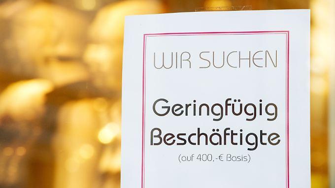 In Deutschland arbeiten 7,4 Millionen Menschen auf 450-Euro-Basis.