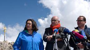 Eheberatung unterm Gipfelkreuz: GroKo-Klausur sucht auf der Zugspitze die Harmonie