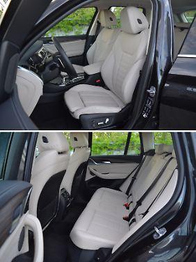 Die Sitze im BMW X3 sind nicht nur sportlich, sondern auch langstreckentauglich.