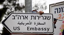 Proteste gegen neue US-Botschaft: Außenamt mahnt in Israel zur Vorsicht