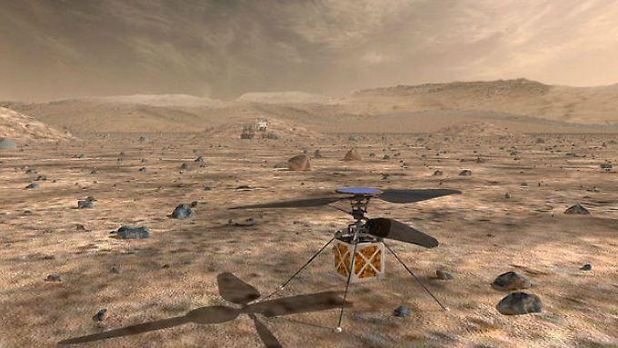Ab 2021 soll der Helikopter über der Marsoberfläche kreisen.