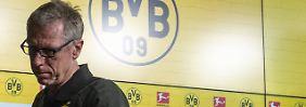 Peter Stöger verlässt den BVB nach kurzer Zeit bereits wieder.