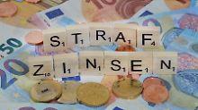 Strafzinsen auf Steuerschuld: Sechs Prozent sind doch zu viel