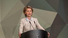 Streit um Wehretat: Von der Leyen verkündet 1,5-Prozent-Ziel