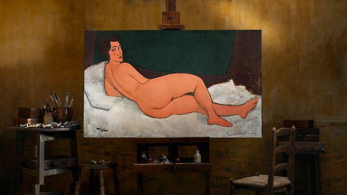"""""""Nu couché (sur le côté gauche)"""" des italienischen Malers Amedeo Modigliani wurde bei Sotheby's versteigert."""