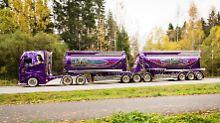 6000 Arbeitsstunden und 450.000 Euro stecken in dem  Show-Trucks hat Mika Auvinen.