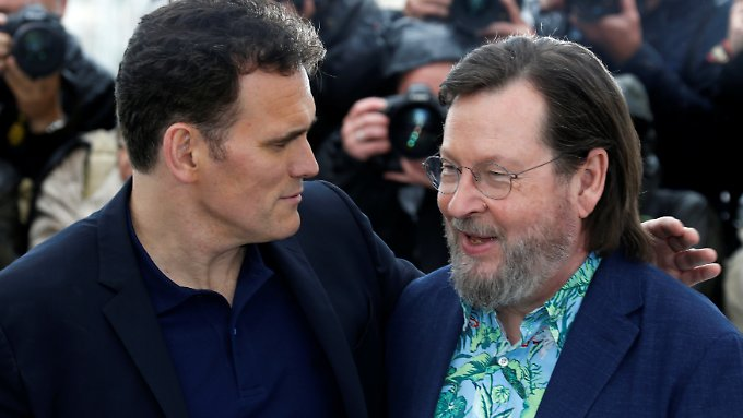 Matt Dillon und der Kritik erprobte Regisseur Lars von Trier in Cannes.