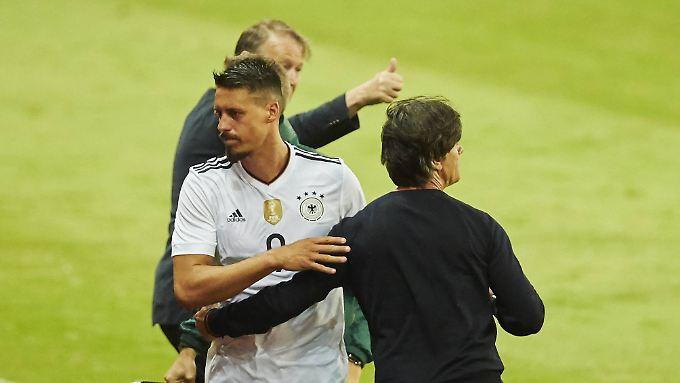 Sandro Wagner will nicht mehr unter Bundestrainer Joachim Löw für die DFB-Elf spielen.
