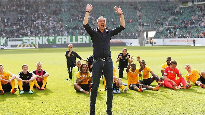 """Adolf """"Adi"""" Hütter hat die Young Boys Bern sensationell zur Schweizer Meisterschaft geführt. Zur neuen Saison trainiert er in Frankfurt - und erfüllt sich einen Traum."""