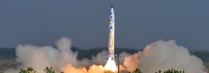 Konkurrenz zu US-Firmen: Chinesen testen erste private Rakete
