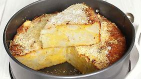 Von Stefan Hirschböck, einem engagierten steierischen Koch, stammt das Rezept für eine pikante Torte mit Blumenkohl, Parmesan und Knoblauch.