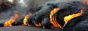 Vulkanausbruch auf Hawaii: Glühende Lava strömt ins Meer