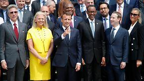 Investitionen in Digitalisierungsprozess: Macron empfängt Chefs großer Tech-Konzerne