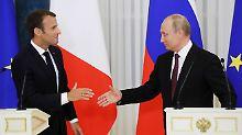 Koordinierung beim Thema Syrien: Macron und Putin kündigen Mechanismus an
