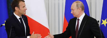 Bessere Abstimmung vereinbart: Macron und Putin nähern sich in Syrien-Frage an