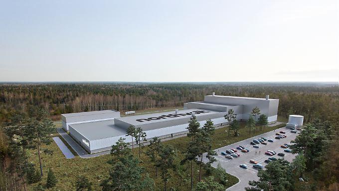 Modell der Northvolk-Fabrik in Schweden.