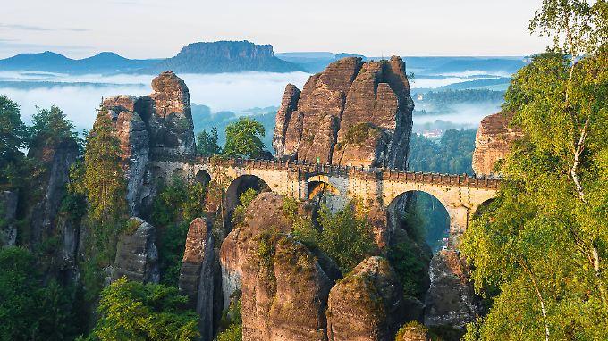 Pittoresk bis zum Umfallen: die Sächsische Schweiz