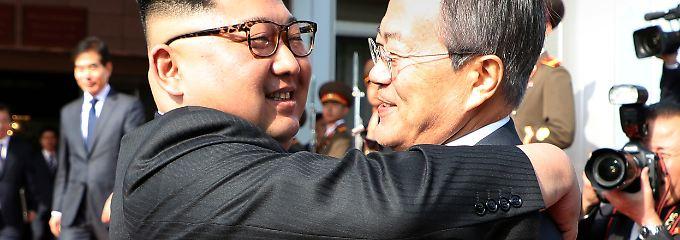 Vorbereitung für Trump-Treffen: Südkoreas Präsident erneut in Nordkorea