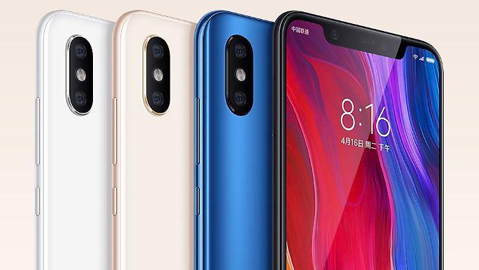 Das Xiaomi M 8 kommt nicht nur optisch dem iPhone X sehr nahe.