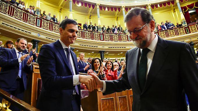 Machtwechsel in Spanien: Sánchez folgt auf gestürzten Ministerpräsidenten Rajoy