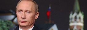 Einmal jährlich bekommen alle Russen den Erlöserturm zu sehen: Bei Putins Silvesteransprache.