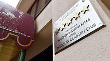 Im Country Club ist alles belegt - hier nächtigt die belgische Nationalmannschaft.