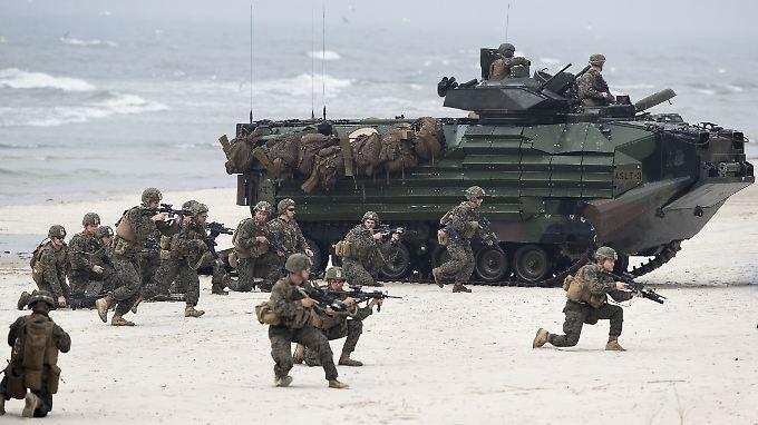 Nato-Einsatzkräfte bei einer Übung.