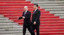 """Peking und Moskau nähern sich an: Xi zeichnet """"besten Freund"""" Putin aus"""