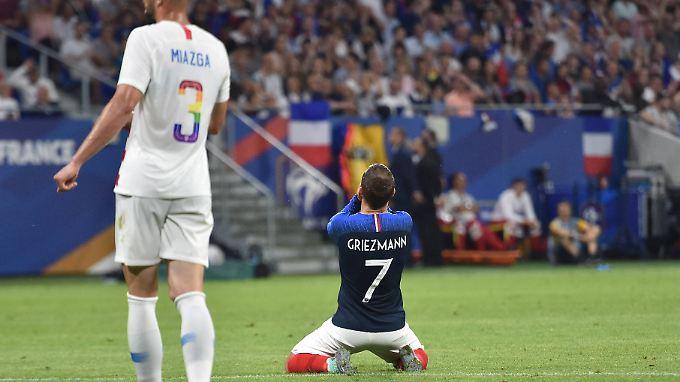 Frankreichs Superstar Griezmann und seinen Kollegen bleiben noch genau sieben Tage, um ihre Form zu finden.
