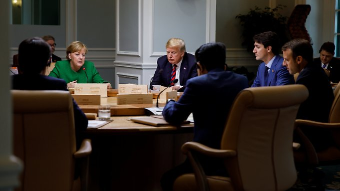 Ein zwischenzeitlicher Konsens musste auf dem G7-Gipfel hart erarbeitet werden.
