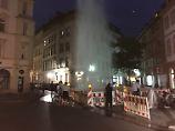 Der Tag: Wasserfontäne nach Rohrbruch erfrischt Mainzer