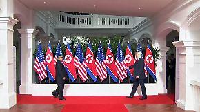 Filmreifer Gipfel der Inszenierung: Jede Geste zwischen Trump und Kim folgt einem Plan