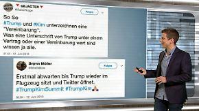 n-tv Netzreporter: Ironisches Warten auf #Trumps ersten Tweet nach Gipfel