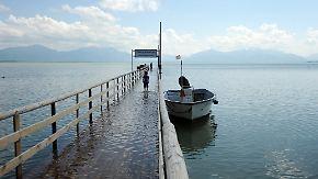 Hochwassergefahr am Alpenrand: Früher Hochsommer legt Pause ein