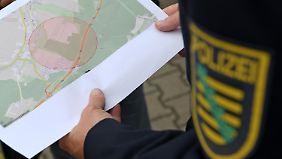 In diesem Gebiet bei Zwickau könnte sich der Bewaffnete verstecken.
