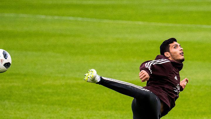 Diego Reyes während des Team-Trainings der Mexikaner.