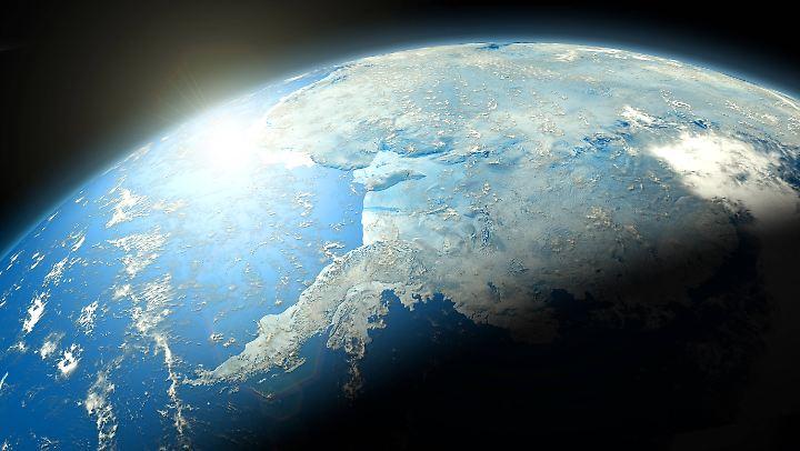 Blick auf die Antarktis vom Weltall aus.