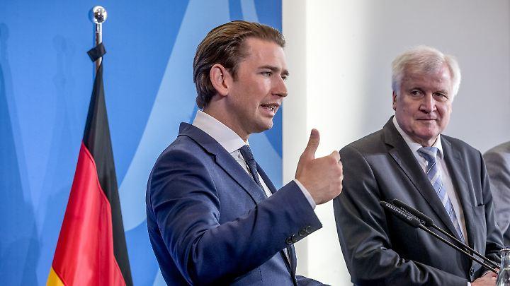 Sebastian Kurz (links) und Horst Seehofer wollen sich für einen Schutz der EU-Außengrenzen einsetzen.