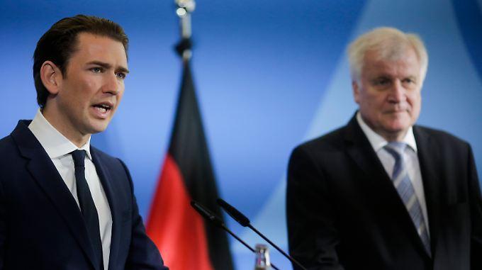 Der österreichische Bundeskanzler Sebastian Kurz und Bundesinnenminister Horst Seehofer.