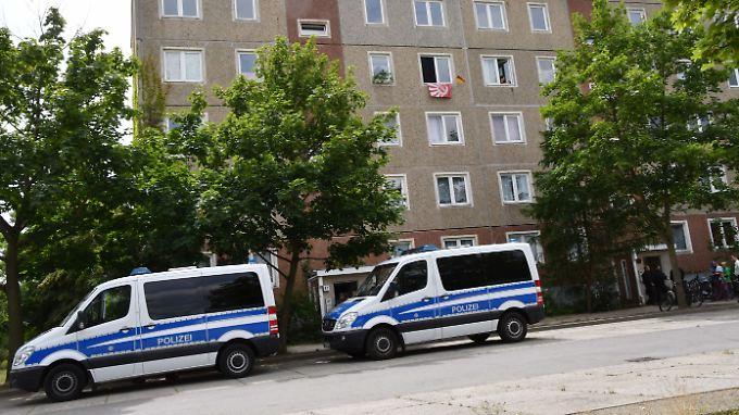 In Cottbus war die Polizei mit einem Großaufgebot im Einsatz.