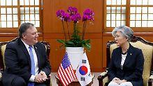 """""""Schnelle"""" Denuklearisierung: Pompeo macht Druck auf Nordkorea"""