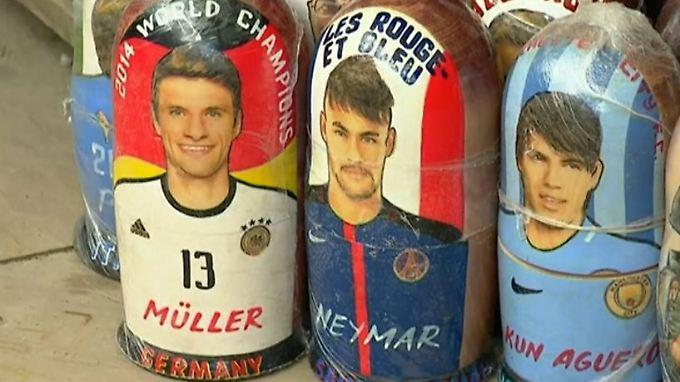 Müller wird zur Mini-Matroschka: WM-Stimmung in Russland nimmt Fahrt auf